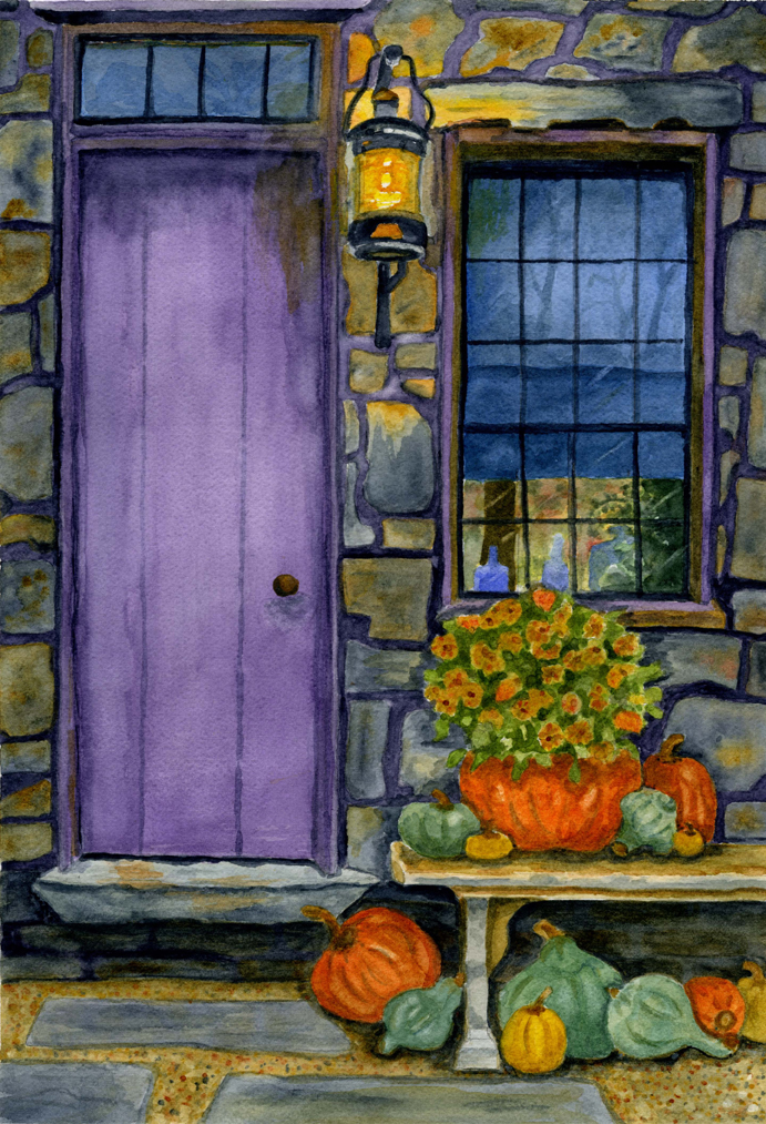 Purple Door & Pumpkins